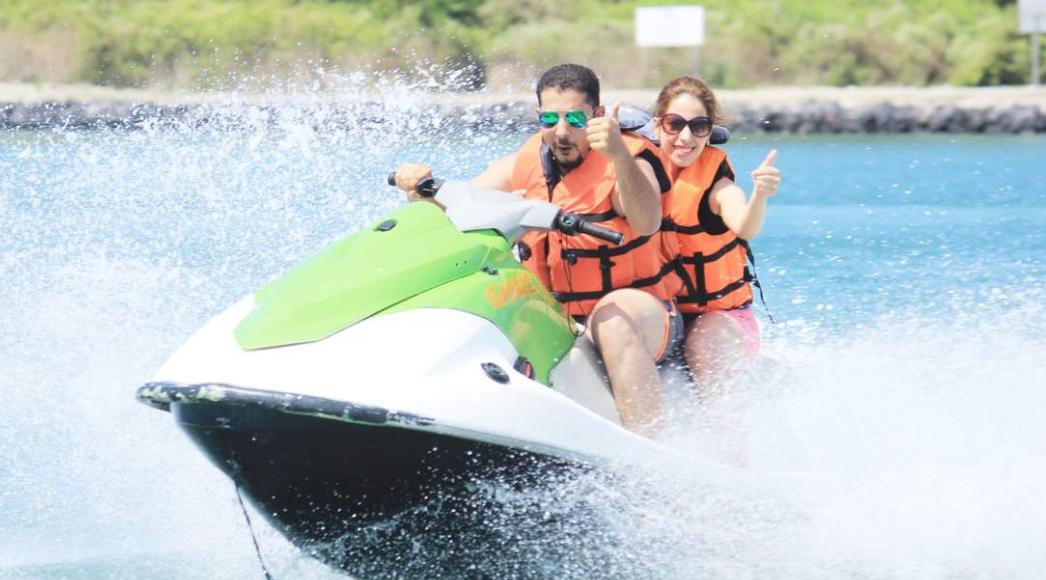 Jet ski in tanjung benoa bali couple