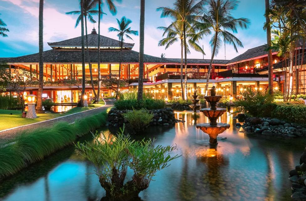 Melia Hotel 5 star nusa dua beach bali sunset