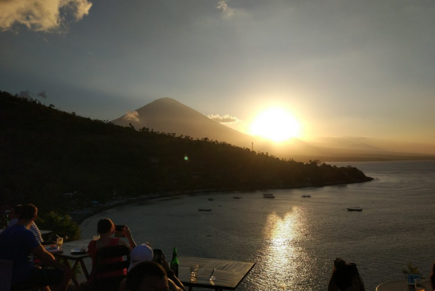 Sunset Amed Beach Bali