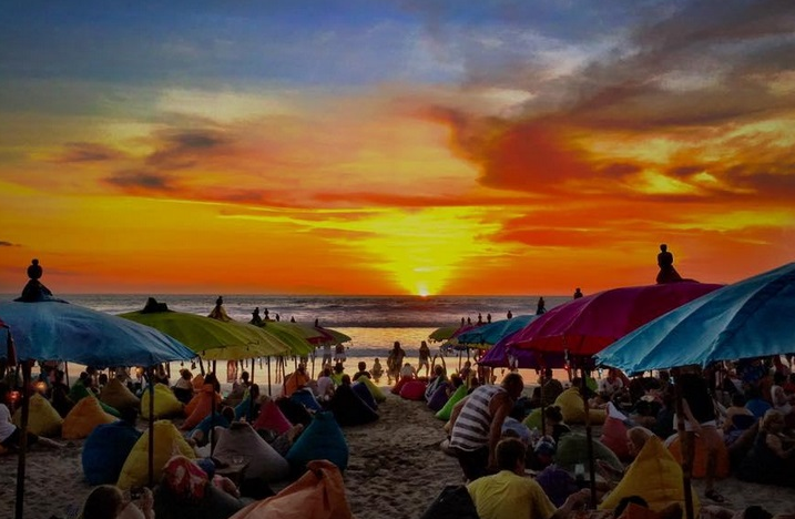 Sunset Mesari Beach Bali