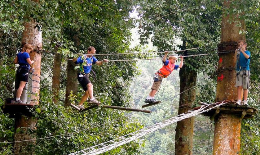 Bali treetop adventure parkkids
