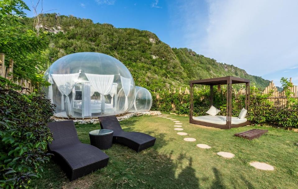 Bubble hotel Pecatu afternoon