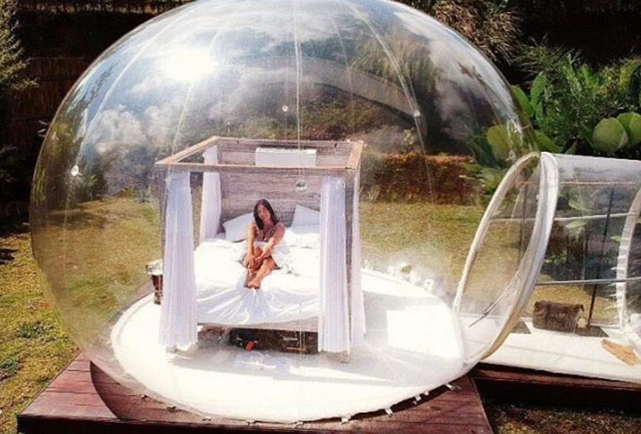 Bubble hotel Pecatu mona say to hi