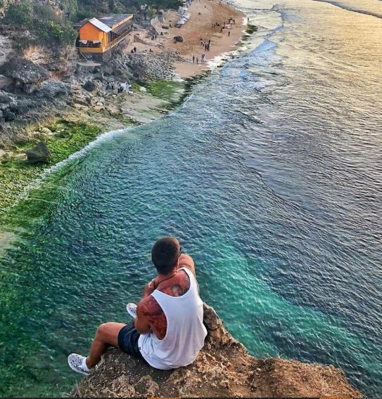 Dreamland beach man view