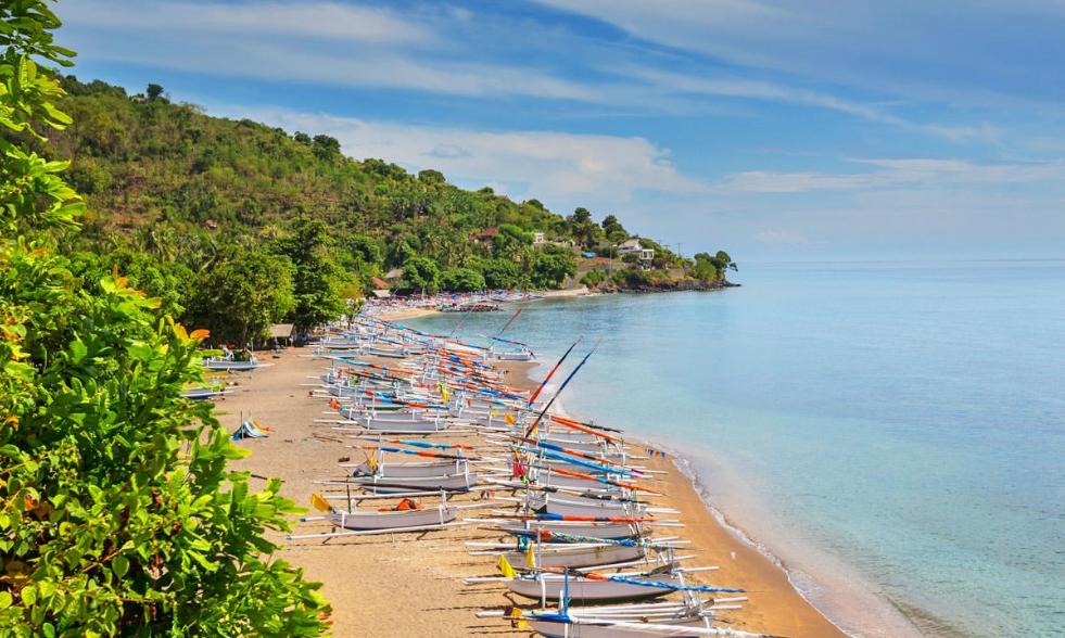 Gianyar Keramas Beach Bali boat