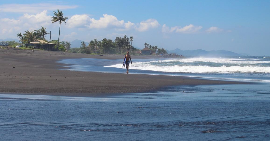 Gianyar Keramas Beach Bali walking