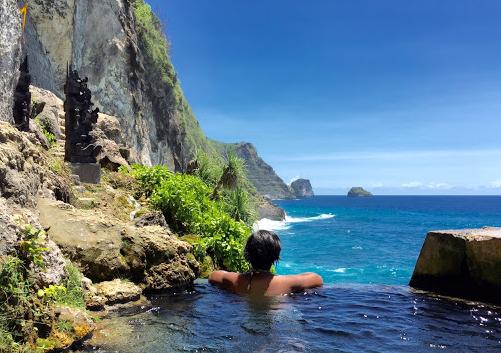 Guyangan Cliff Springs Nusa Penida