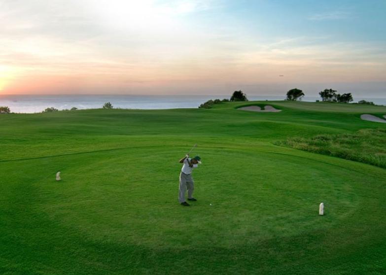 New Kuta Golf Uluwatu Bali sunset