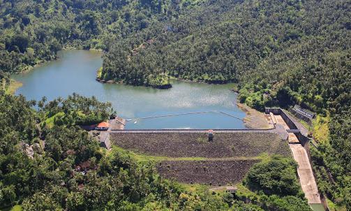 Palasari dam Jembrana bali up view