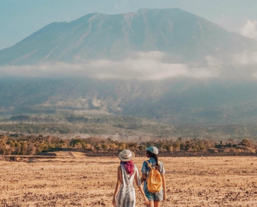 Savana Tianyar Karangasem Bali two grils