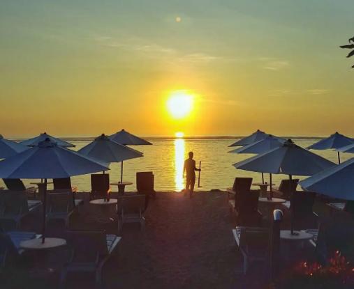 Segara Ayu beach Denpasar sunrise