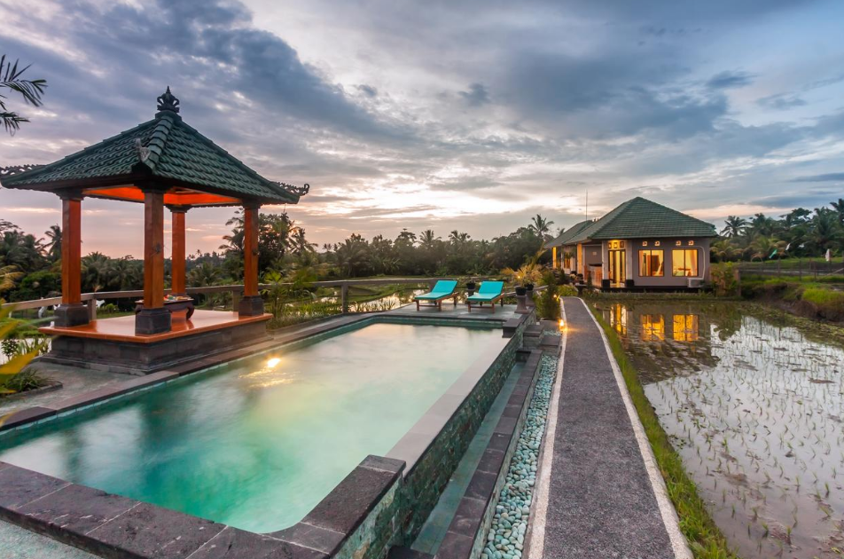 cahaya Ubud Villa swiming pool 2
