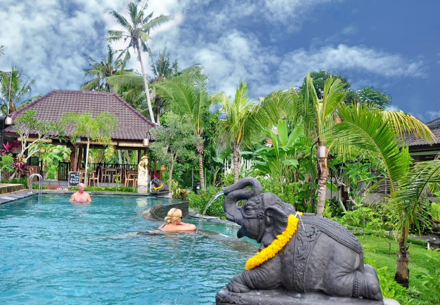 hotel bucu view Ubud Bali swimming pool