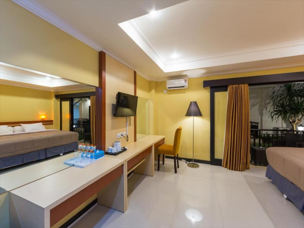 bed room Sylvia Bali Suite Residence hotel three star in bali denpasar