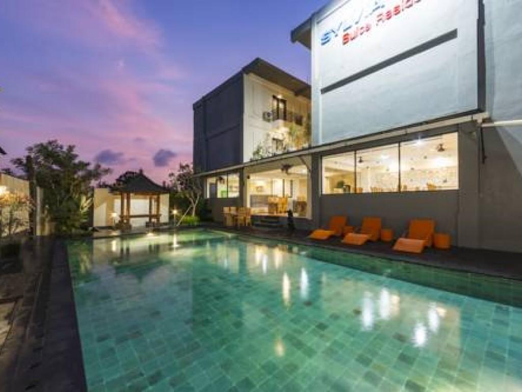 swimming pool Sylvia Bali Suite Residence hotel three star in bali denpasar