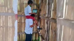 Teacher hoisting student on his shoulders to go online highlights internet access disparity in eastern Indonesia